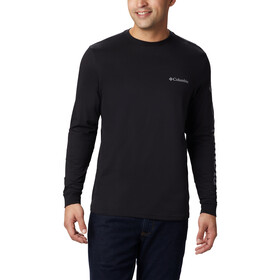 Columbia Columbia Lodge Maglietta a maniche lunghe Uomo, black/sleeve hit